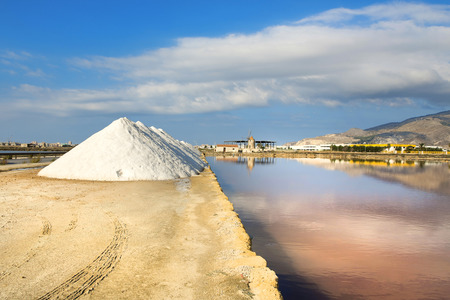 trapani: Beautiful view of the Saline, Trapani, Sicily Stock Photo