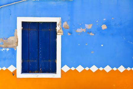 taken: Colorful houses taken on Burano island , Venice, Italy Stock Photo