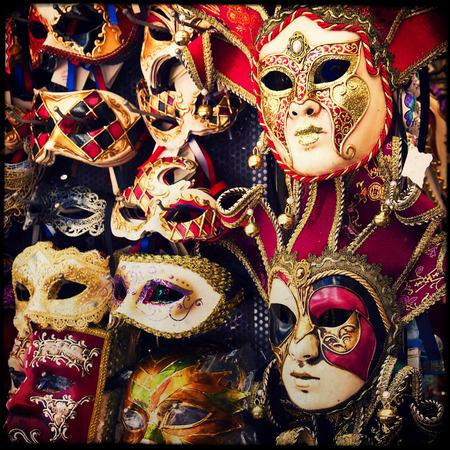 masquerade mask: Carnival of Venice, beautiful masks at St. Marks Square