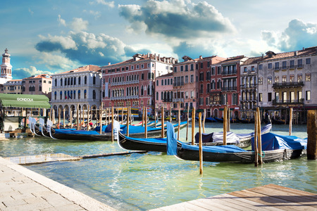 The beautiful view of a Canal Grande  in Venice, Italy photo