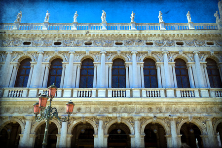 procuratie: Venice - The Procuratie Nuove, on the south side of the Piazza San Marco Stock Photo