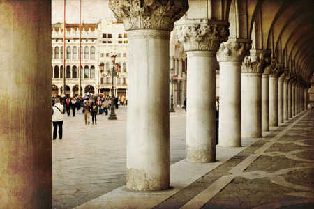 doges: Exterior of Venice Doges palace, Venice, Italy  Stock Photo