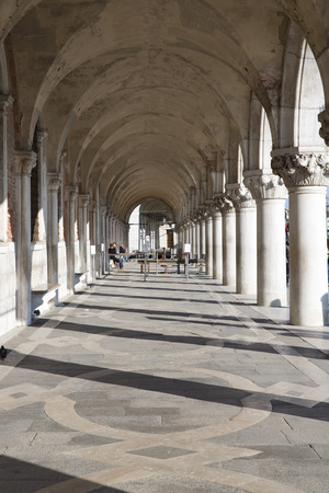 st mark's square: Exterior of Venice Doges palace, Venice, Italy  Editorial