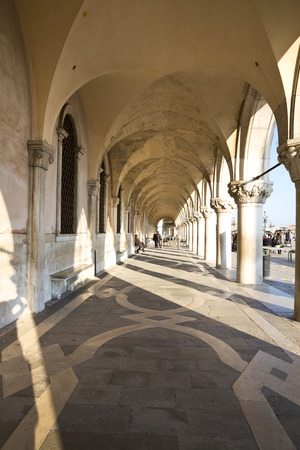 doges: Exterior of Venice Doges palace, Venice, Italy  Editorial