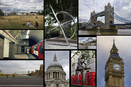 bigben: Collage. Beautiful landscapes and atmospheres of London