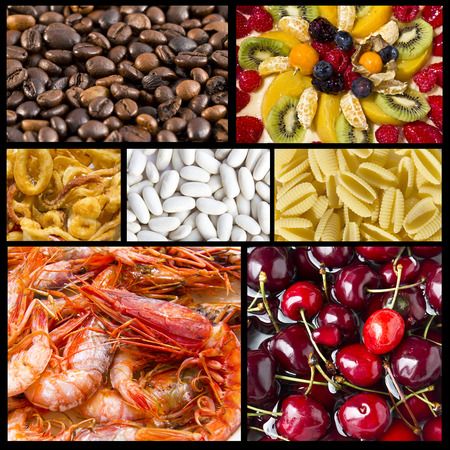 Collage of mixed Food photo