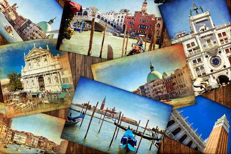 atmosfere: Collage. Bei paesaggi e atmosfere di Venezia, Italia Archivio Fotografico