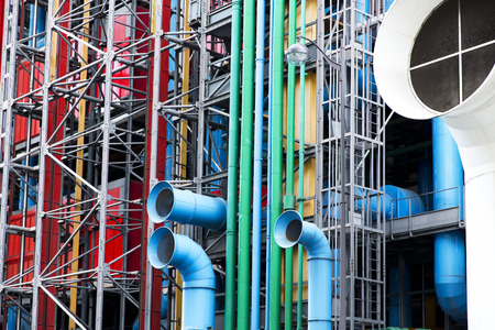 georges: The Pompidou cultural center in Paris, France Stock Photo