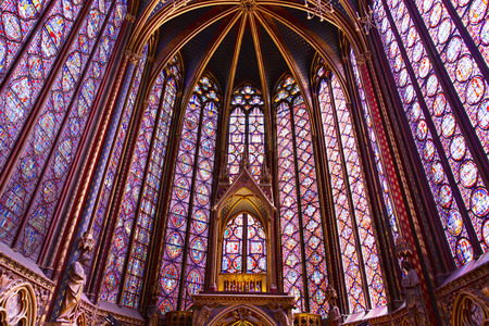 The Sainte Chapelle  Holy Chapel  in Paris, France  The Sainte Chapelle is a royal medieval Gothic chapel in Paris and one of the most famous monuments of the city