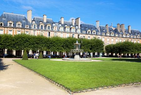 The Place des Vosges in Paris City, France