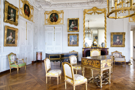 VERSAILLES, FRANCE - August 7, 2014: Interior of Chateau de Versailles (Palace of Versailles) near Paris on August 7, 2014, France.