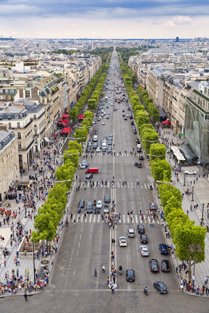 Panoramic view of Paris from the Arc de Triomphe