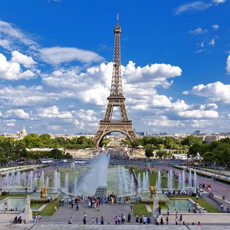 Mooi uitzicht op de Eiffeltoren van het Trocadero