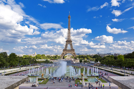 tour eiffel: Beautiful view of Eiffel Tower from the Trocadero Stock Photo