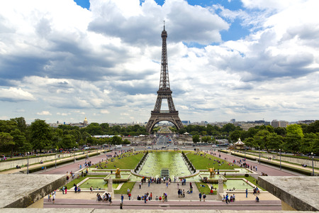 trocadero: Beautiful view of Eiffel Tower from the Trocadero Editorial