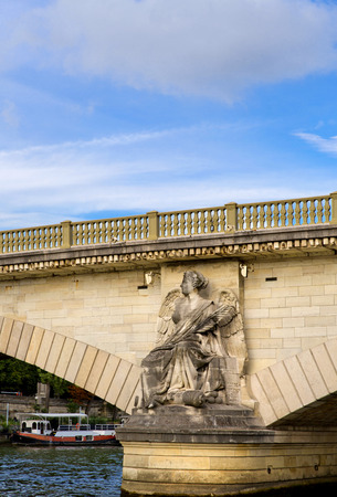 invalides: Pont des Invalides from Seine river in Paris Stock Photo