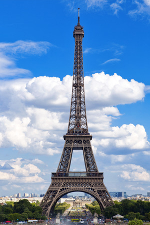 Beautiful view of Eiffel Tower from the Trocadero Stock Photo