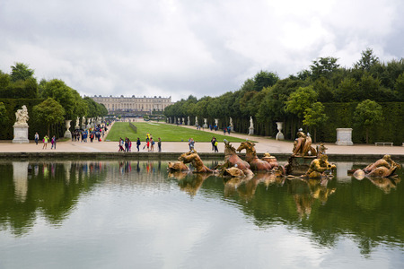 Royal Garden in the Versailles Castle, Paris, France, Unesco