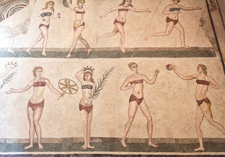 Mosaics in Villa Romana del Casale, Piazza Armerina, Sicilia, Italy