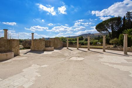 Villa Romana del Casale, Piazza Armerina, Sicilia, Italy Imagens