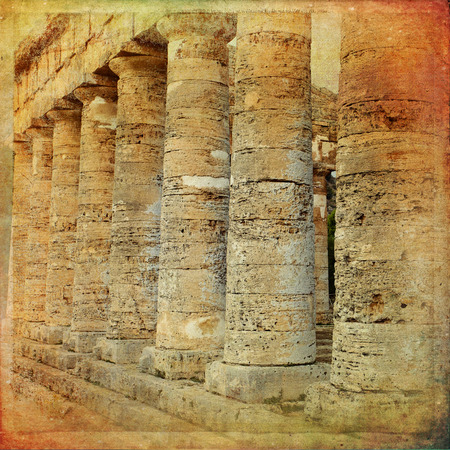 calatafimi: The greek temple of Segesta near Trapani in Italy Stock Photo
