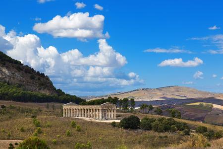 calatafimi: The greek temple of Segesta near Trapani in Italy Stock Photo