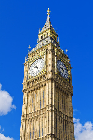 bigben: Beautiful view of the Big Ben in Westminster, London. Stock Photo