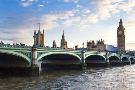 houses of parliament: Houses of Parliament and Big Ben in Westminster, London. Stock Photo