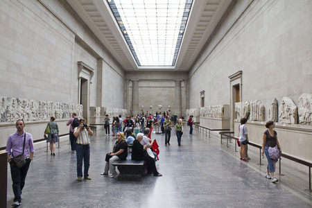 british people: LONDON, UK; August 2, 2010: People visiting the British Museum Editorial