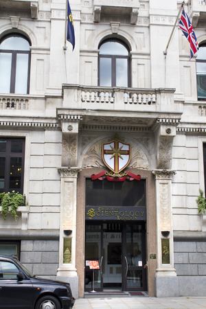 gained: LONDON - AUGUST 3:  The Church of Scientology on August, 3 2010 in London. Scientology gained publicity through its involvement with celebrities like Tom Cruise and John Travolt