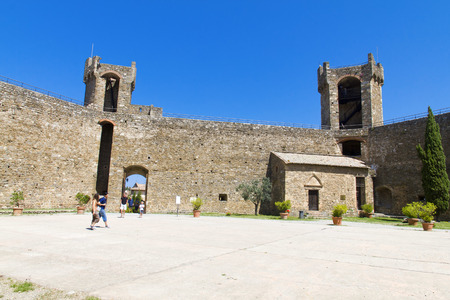 montalcino: The beautiful view of the Montalcino Castle in Tuscany, Italy