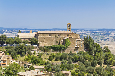 valdorcia: The beautiful view of the landscape of the Tuscany. Italy Stock Photo