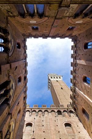campo: Campo Square with Mangia Tower, Siena, Italy