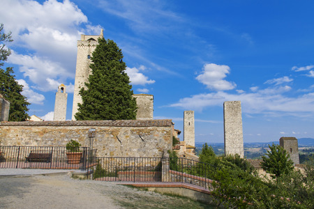 siena italy: The towers of San Gimignano, Siena, Italy Editorial