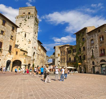 The towers of San Gimignano, Siena, Italy Редакционное
