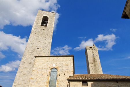 siena italy: The towers of San Gimignano, Siena, Italy Stock Photo
