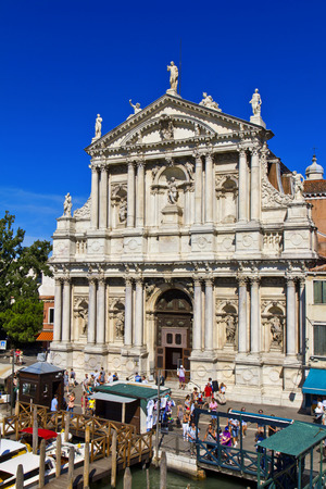 widely: VENICE, ITALY, August 10, 2011: Church of St. Mary of Nazareth in Venice, Italy. Due the proximity to the Santa Lucia railway station, it is a monument widely seen in the city