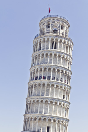 medici: The famous Leaning Tower of Pisa in Italy