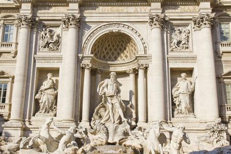 bernini: The Baroque Trevi Fountain in Rome, Italy Editorial
