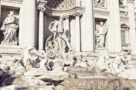 The Baroque Trevi Fountain in Rome, Italy Editorial