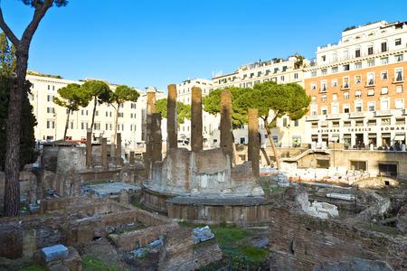 sacra: The famous Area Sacra. Largo Argentina. Rome, Italy