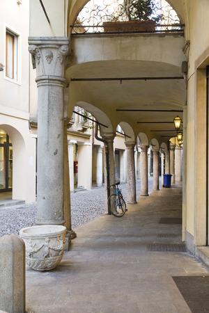 veneto: A street in the old center of Padua, Veneto, Italy Stock Photo