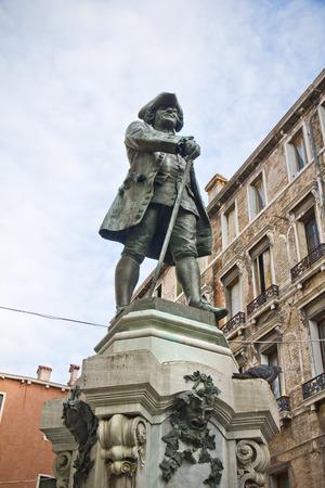 carlo: Statue of the Italian playwright Carlo Goldoni Venice Italy Stock Photo