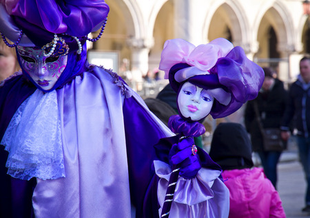 st marks square: Carnival of Venice, beautiful masks at St. Marks Square