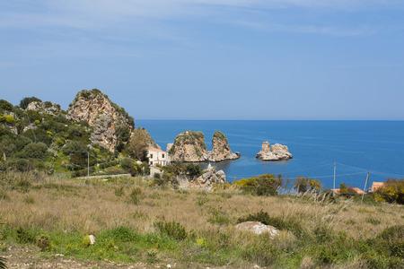 castellammare del golfo: Faraglioni and Tonnara at Scopello, Sicily, Italy