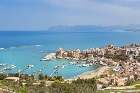 castellammare del golfo: The beautiful view from the Gulf of Castellammare, Trapani,Sicily