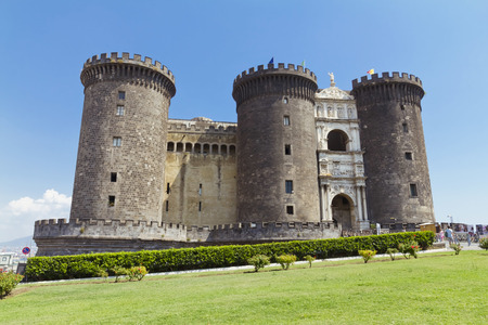 castel: The medieval castle of Maschio Angioino or Castel Nuovo (New Castle), Naples, Italy.