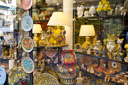 taormina: Beautiful souvenirs in Taormina, beautiful city of Sicily