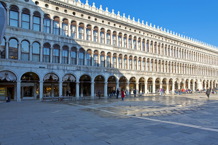 procuratie: Venice - The Procuratie Nuove, on the south side of the Piazza San Marco Editorial
