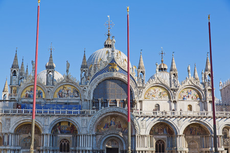 patriarchal: The Patriarchal Cathedral Basilica of Saint Mark at the Piazza San Marco. St Marks Square, Venice, Italy Editorial